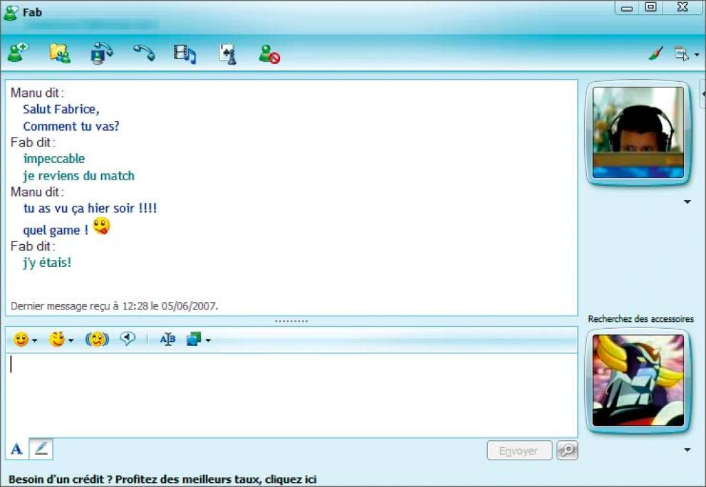 msn messenger 8.5 sur 01net