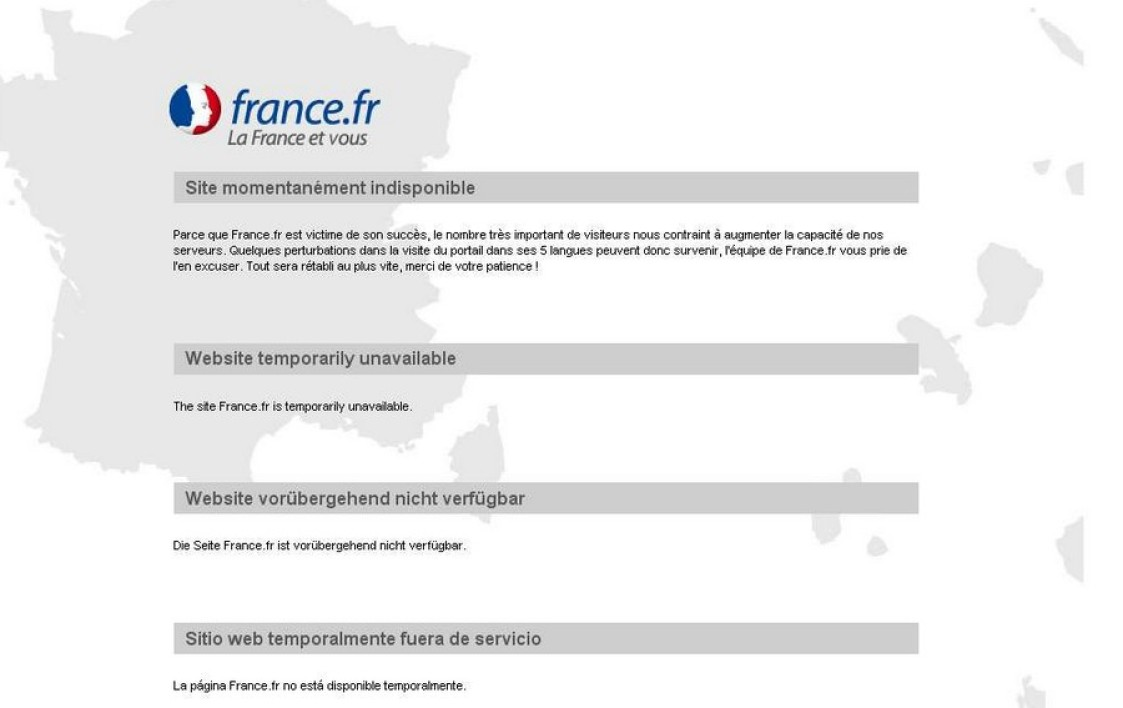 France.fr, site inaccessible