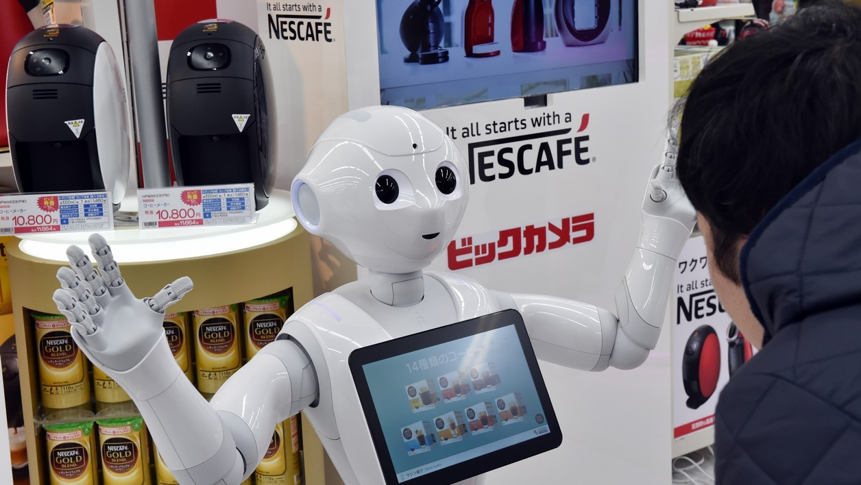 Le robot Pepper au Japon
