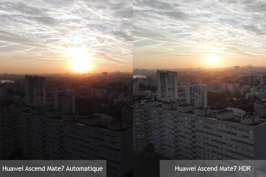 Huawei Ascend Mate7 : mode automatique vs mode HDR.