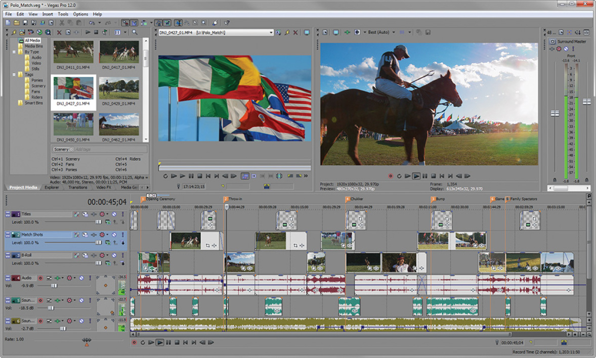 Sony Vegas 12_Interface
