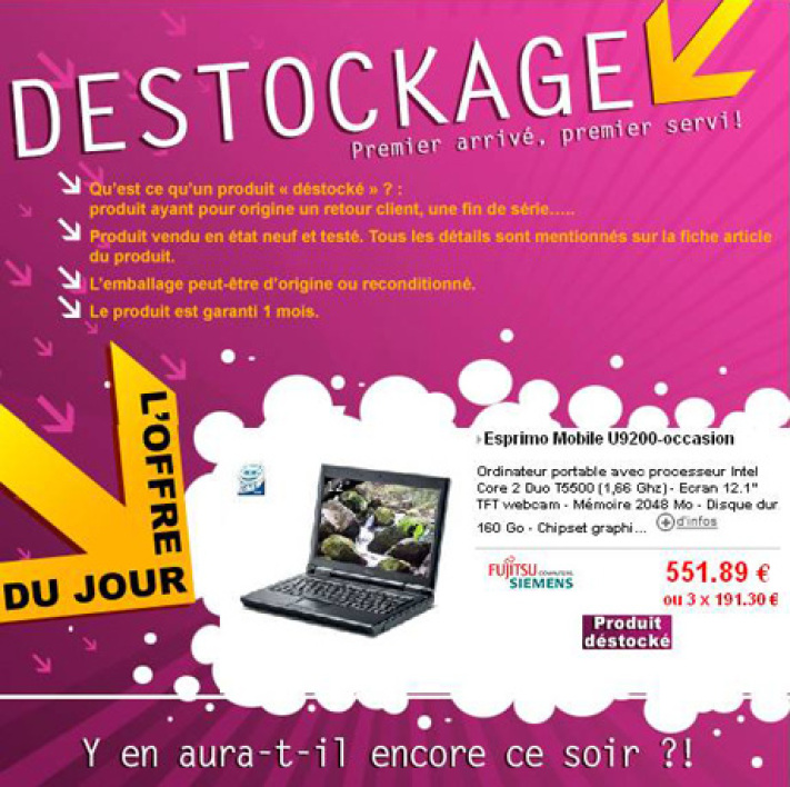 destockage cdiscount
