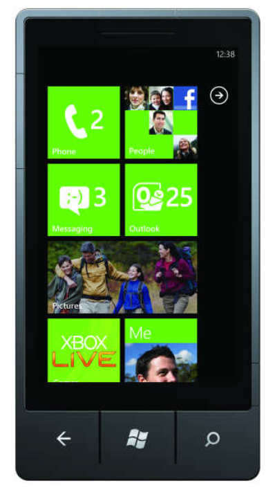 Interface de Windows Phone 7