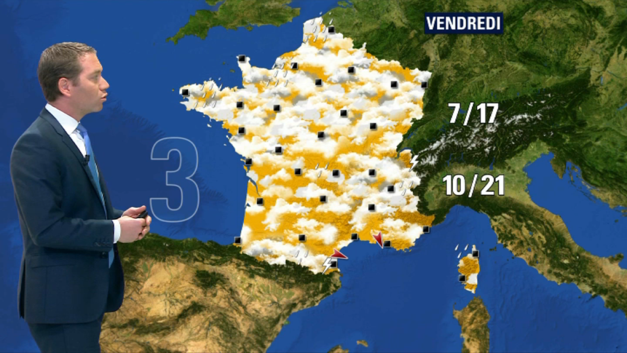 Temps variable vendredi.
