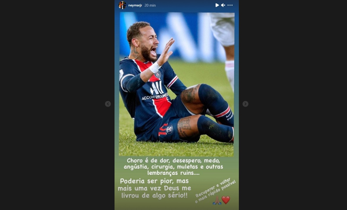 Le message de Neymar sur Instagram