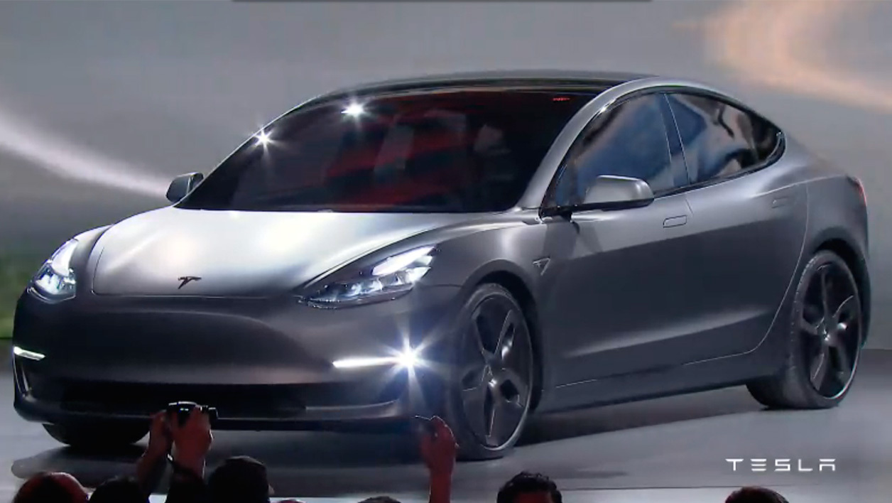 tesla a d voil la model 3 elle sera vendue partir de 35 000 dollars. Black Bedroom Furniture Sets. Home Design Ideas