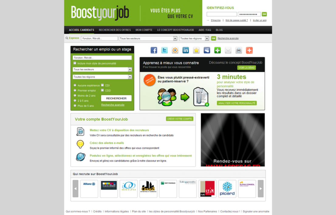 Le site Boostyourjob