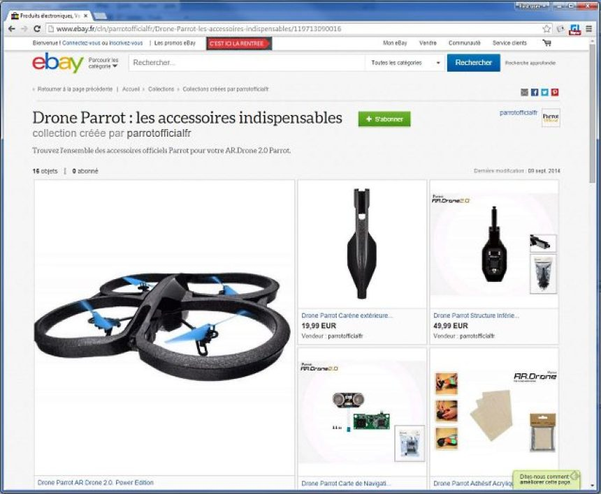Une collection de Parrot sur eBay