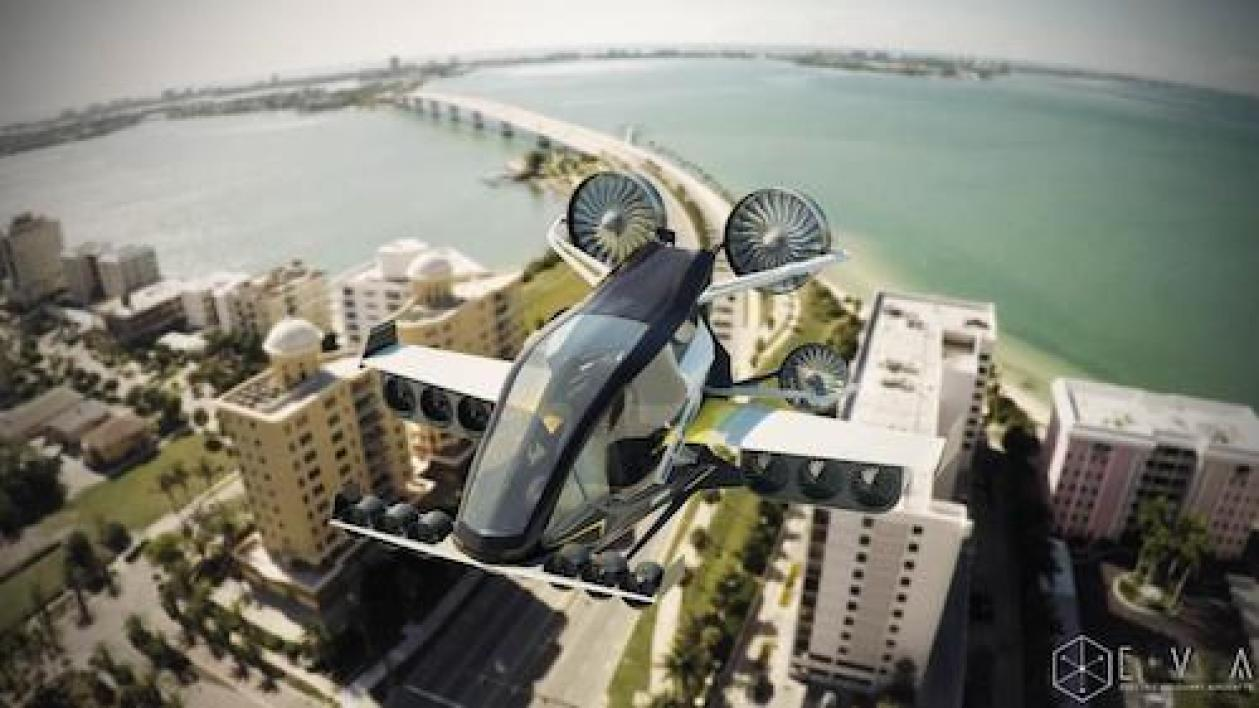 Electronic Visionary Aircrafts (taxi volant)