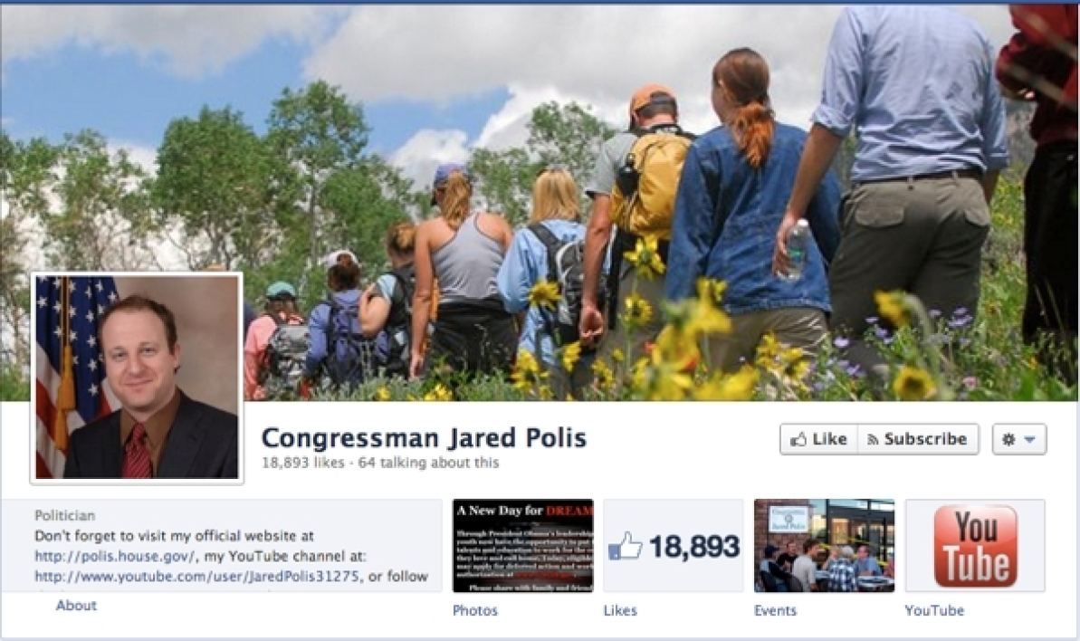 Page Facebook de Jared Polis