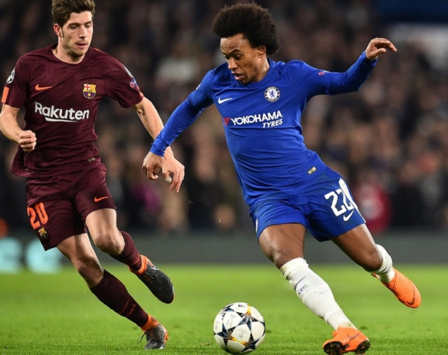 Willian face au FC Barcelone