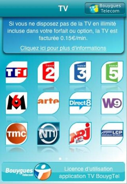 L'application TV Bouygues Telecom pour iPhone