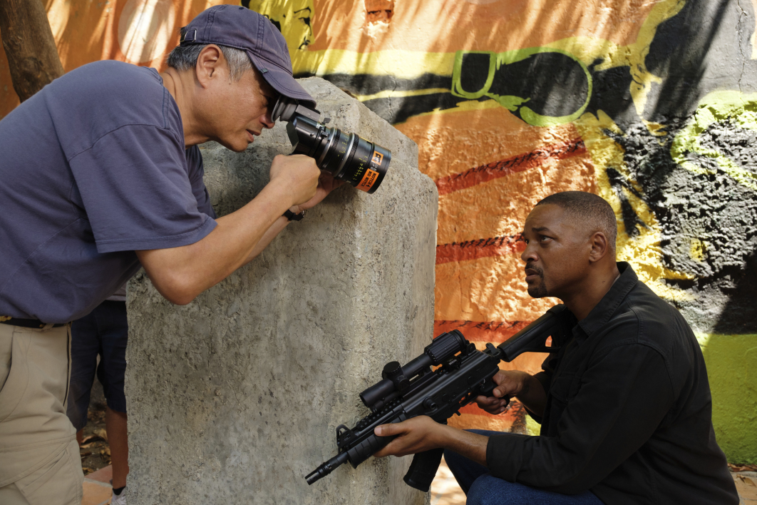 Ang Lee et Will Smith sur le tournage de Gemini Man