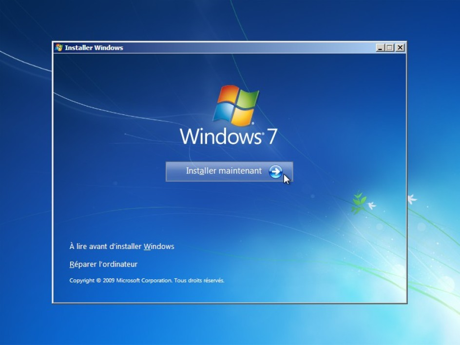 Installer Windows 7