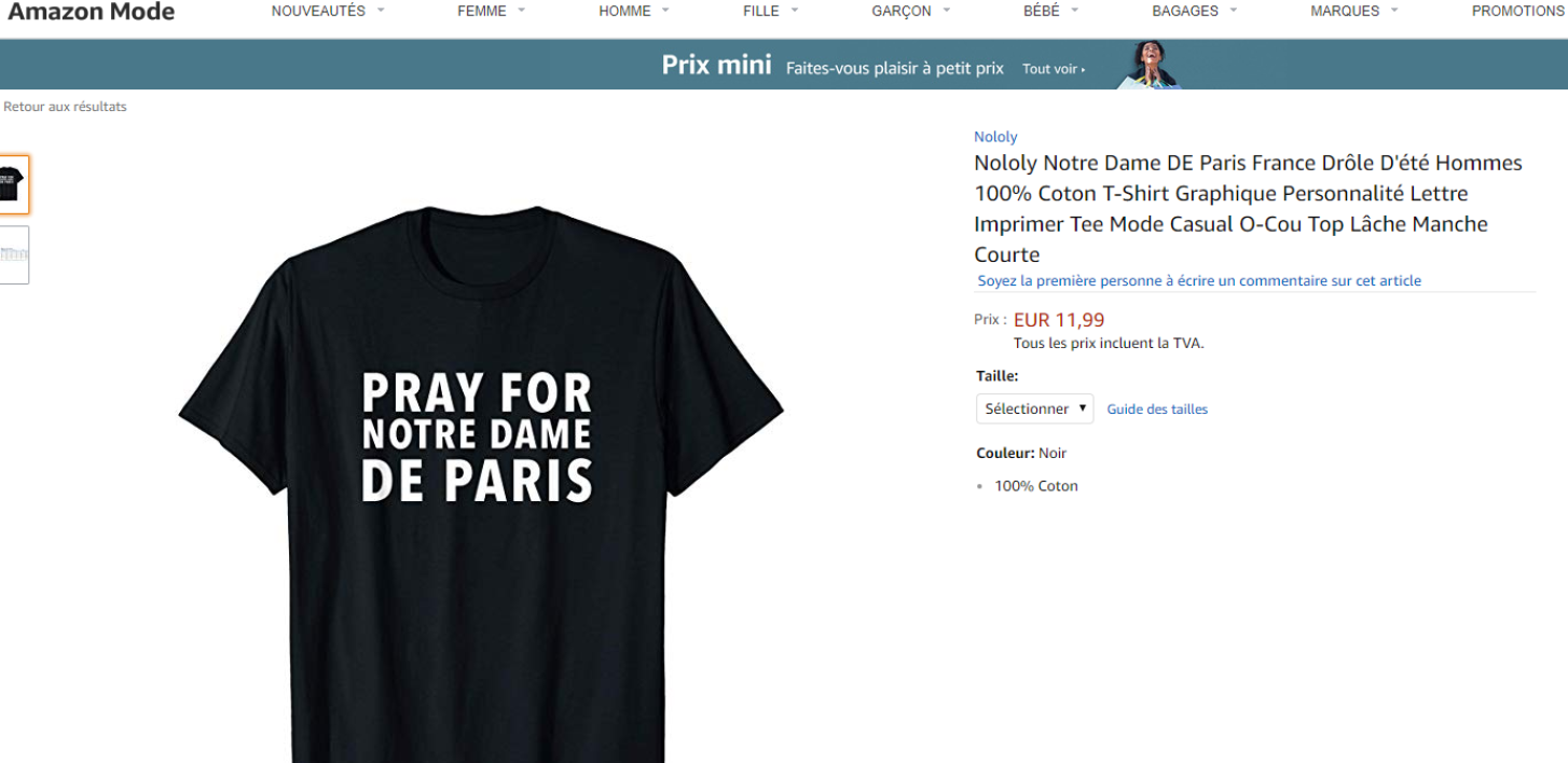 Pray for Notre-Dame/Amazon