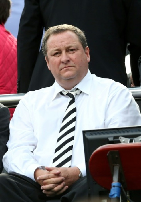 Le propriétaire de Newcastle United, Mike Ashley, lors d'un match de Premier League contre West Ham, au St James Park, le 24 mai 2015