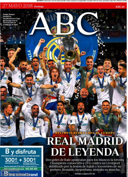 "ABC : ""Real Madrid de légende"""
