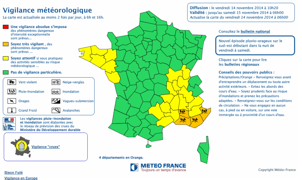 meteo france orages intemperies