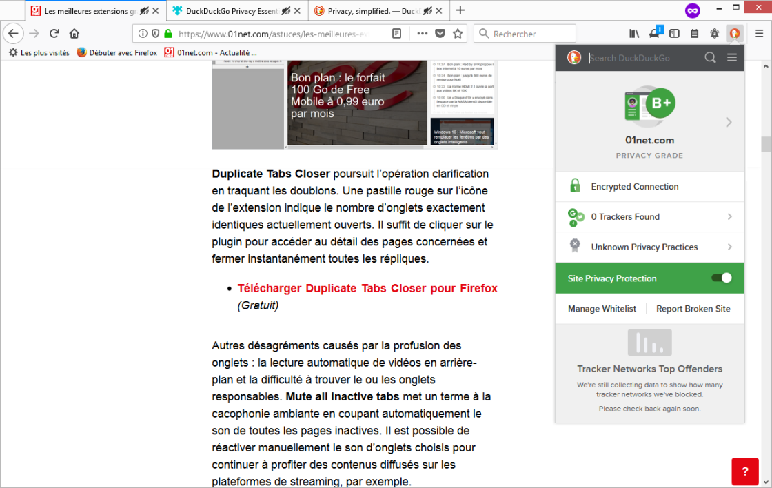 module firefox traduction page web