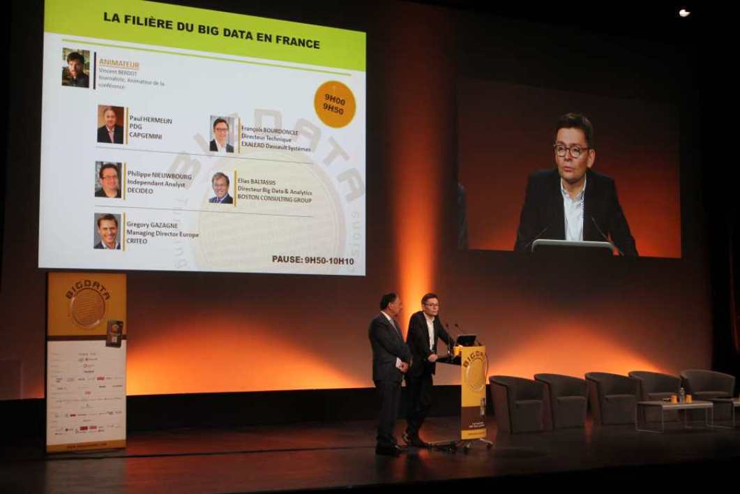 François Bourdoncle et Paul Hermelin, lors du salon Big Data à Paris en avril dernier
