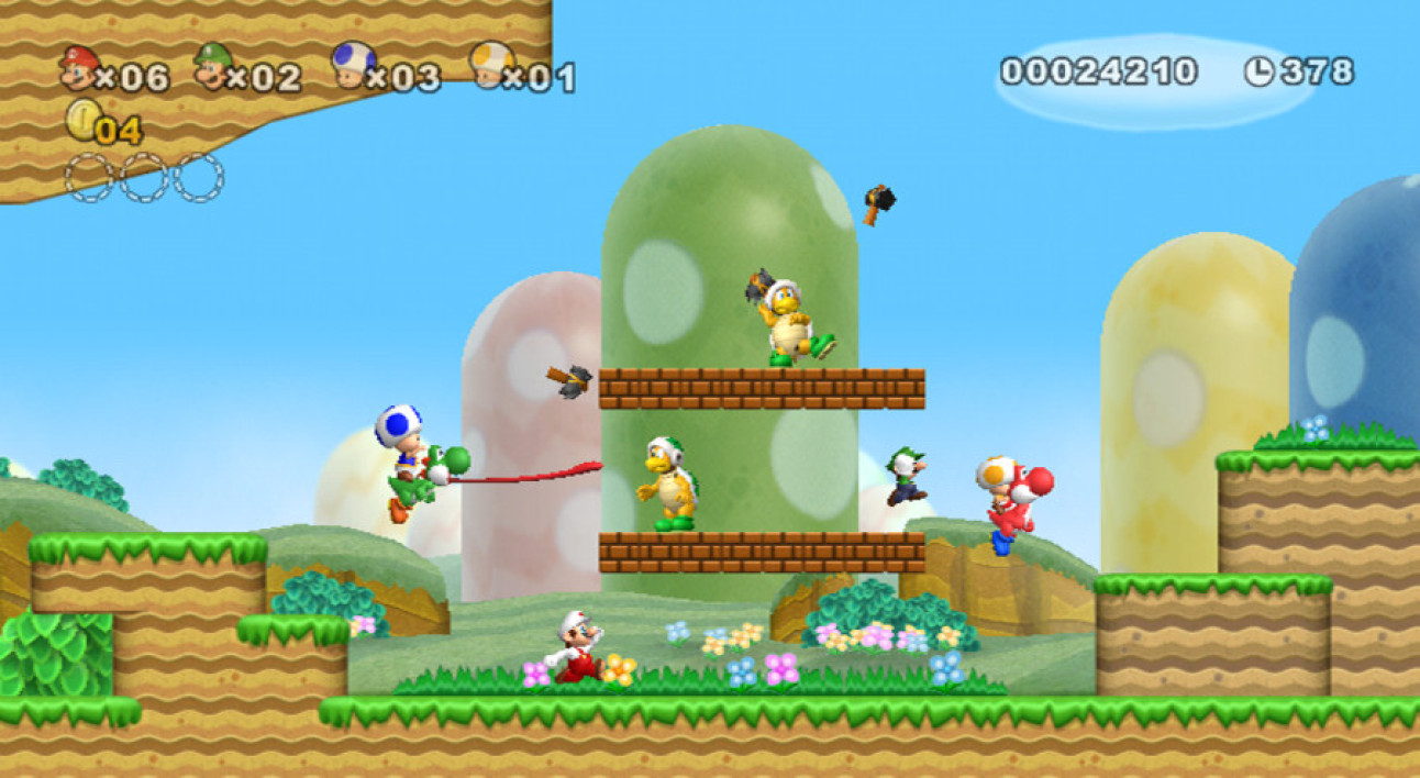 New Super Mario Bros Wii - A quatre