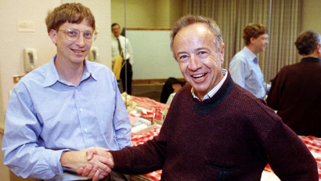 Andrew Grove et Bill Gates en 1992