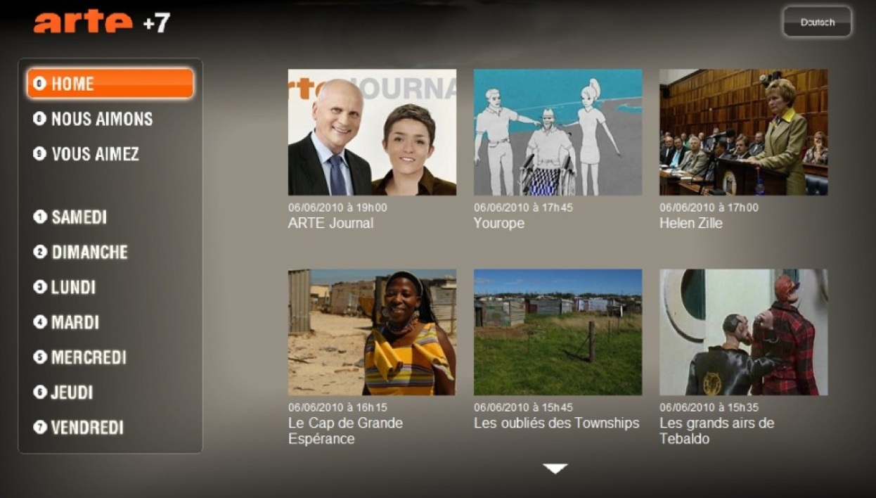 Arteplus 7 sur Freebox TVReplay