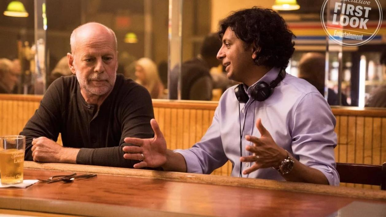 M. Night Shyamalan et Bruce Willis