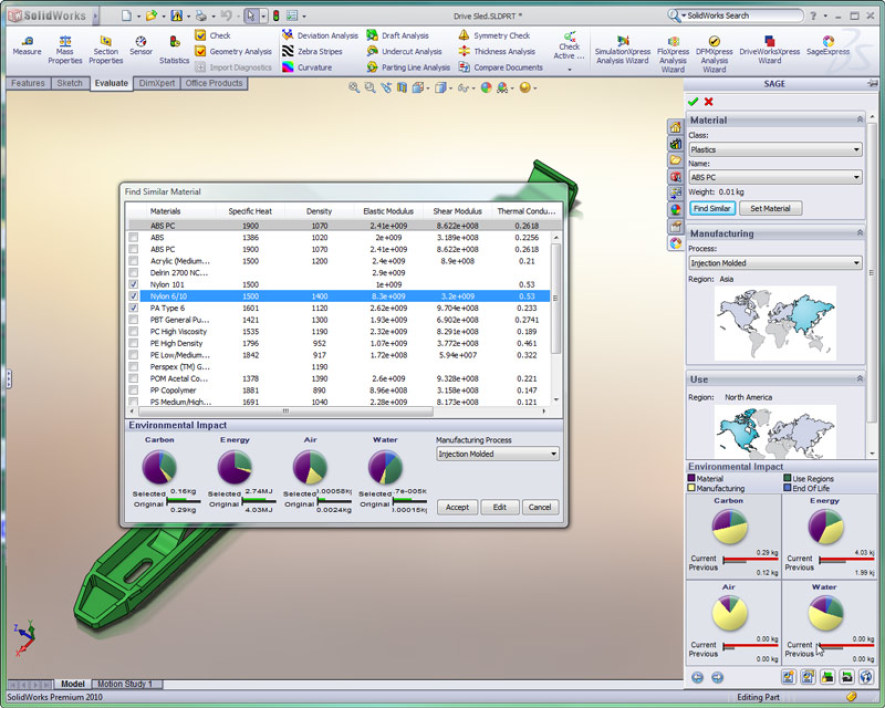 Solidworks 2010 SustainabilityXpress