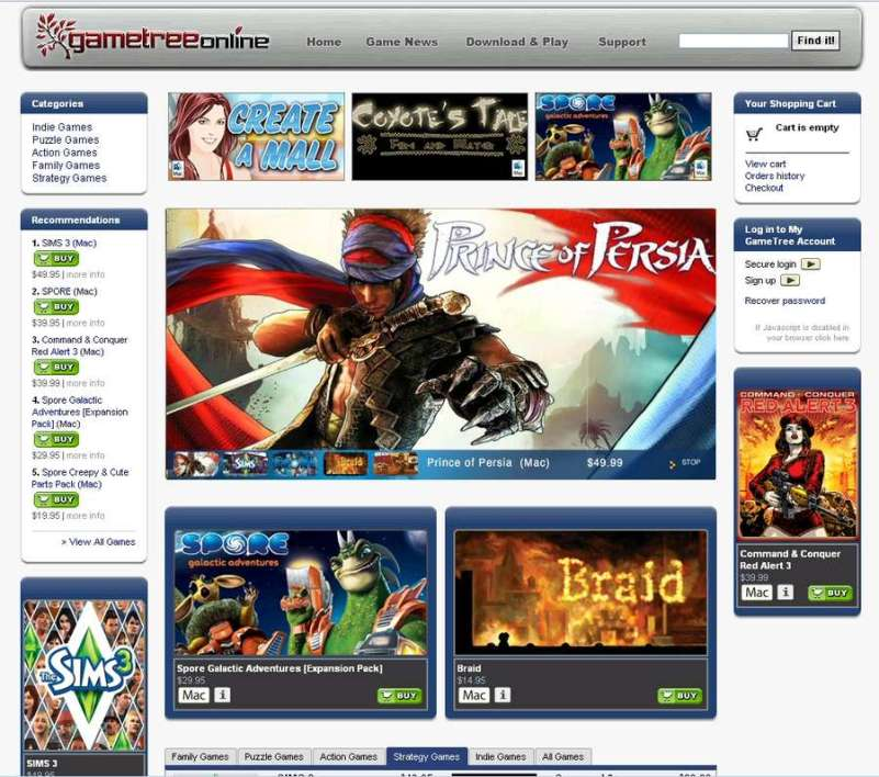 GameTreeOnline, le service déjà disponible de TransGaming