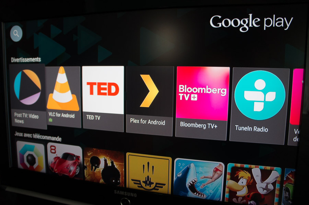 Quelques applications d'Android TV