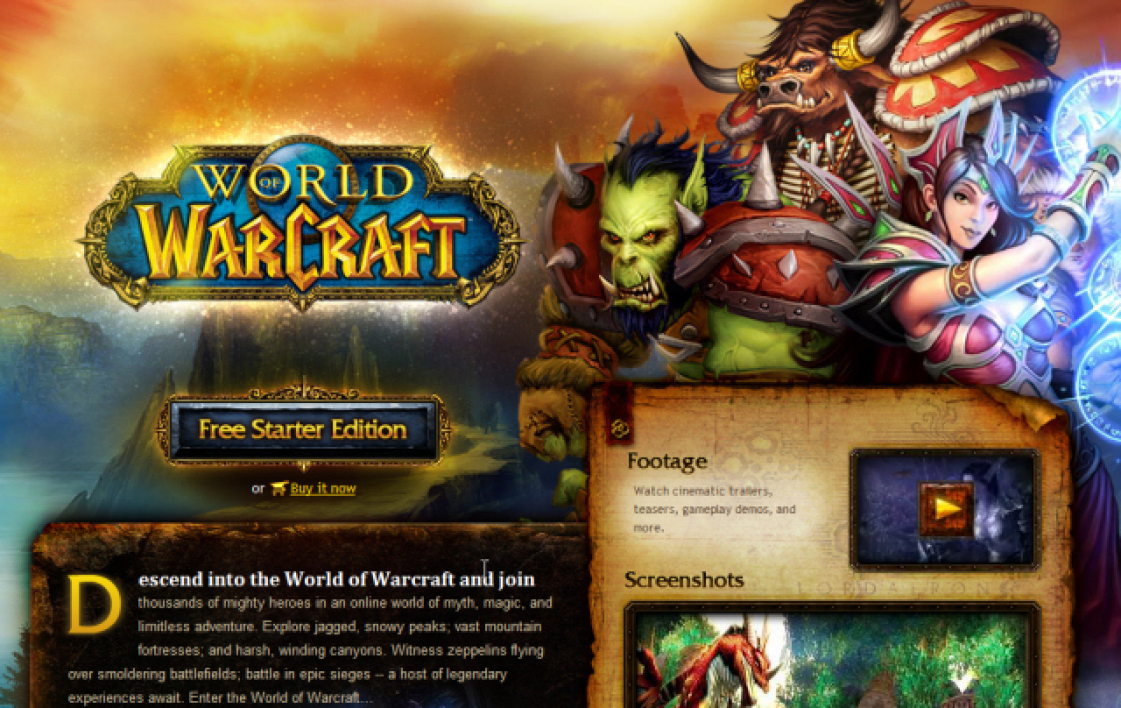 World of Warcraft, gratuit