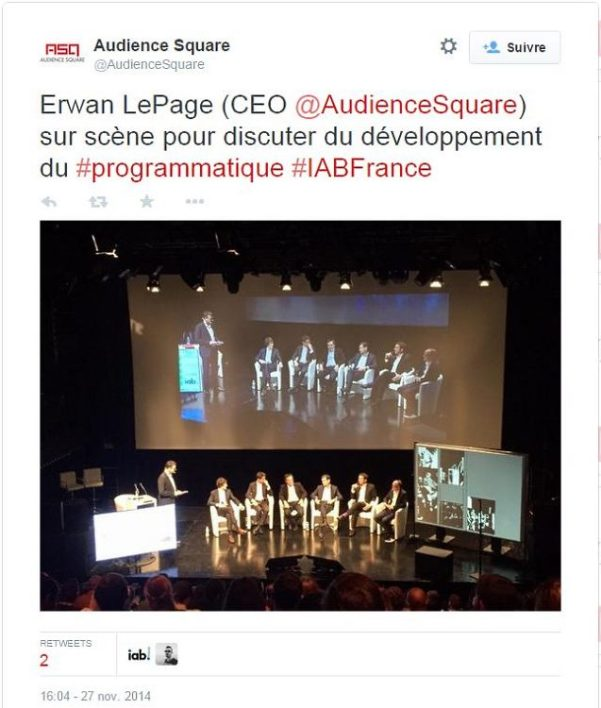Table ronde sur le programmatique lors du colloque d'IAB France