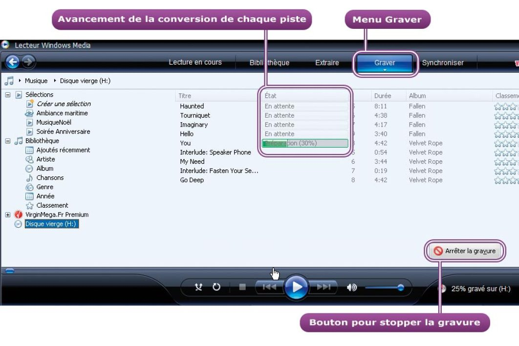 Graveur de CD MP3