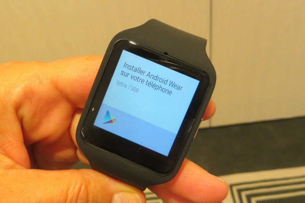 Sony SmartWatch 3 sous Android Wear