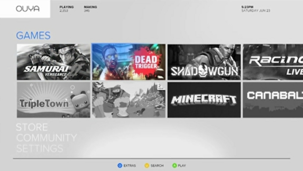 Interface de la console Ouya