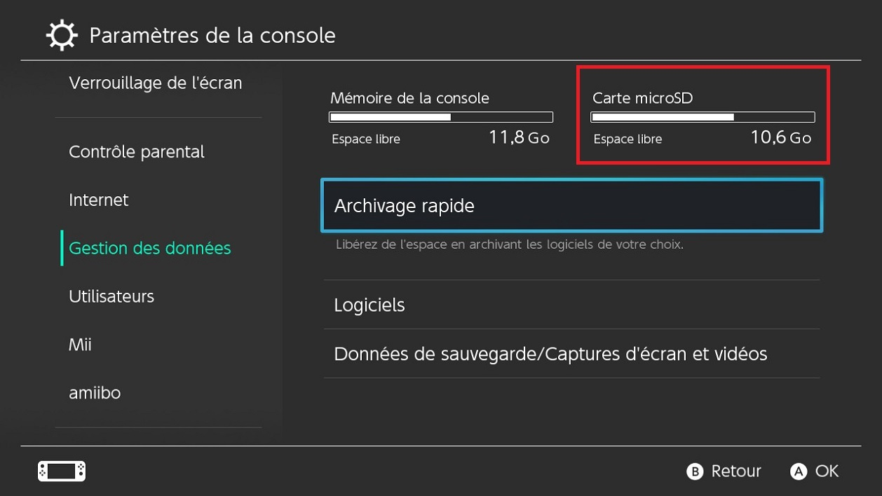 Nintendo Switch : comment passer à une carte mémoire de plus ...