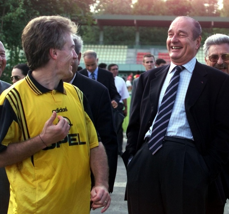 Deschamps et Chirac