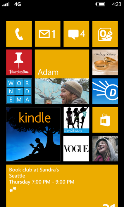 Interface de Windows Phone 8