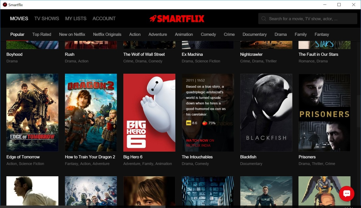 on a test u00e9 smartflix  l u2019appli qui vous donne acc u00e8s au catalogue mondial de netflix