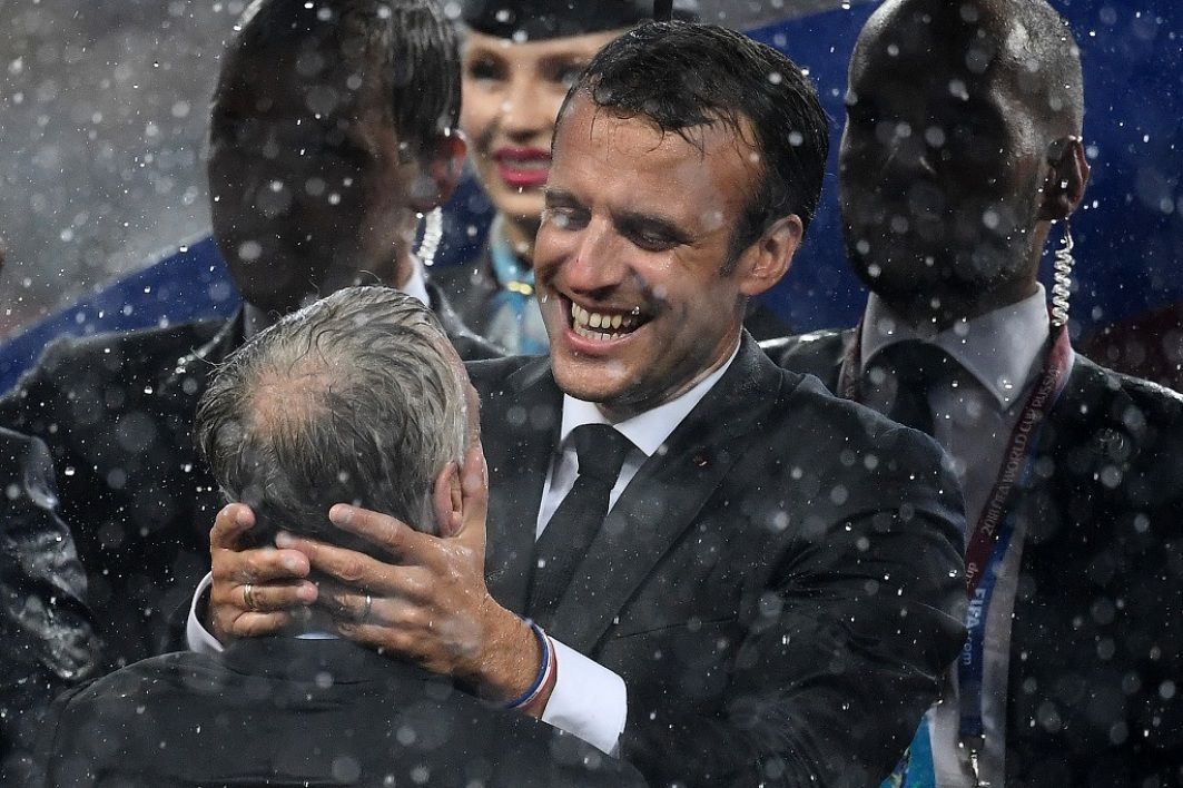 Deschamps et Macron