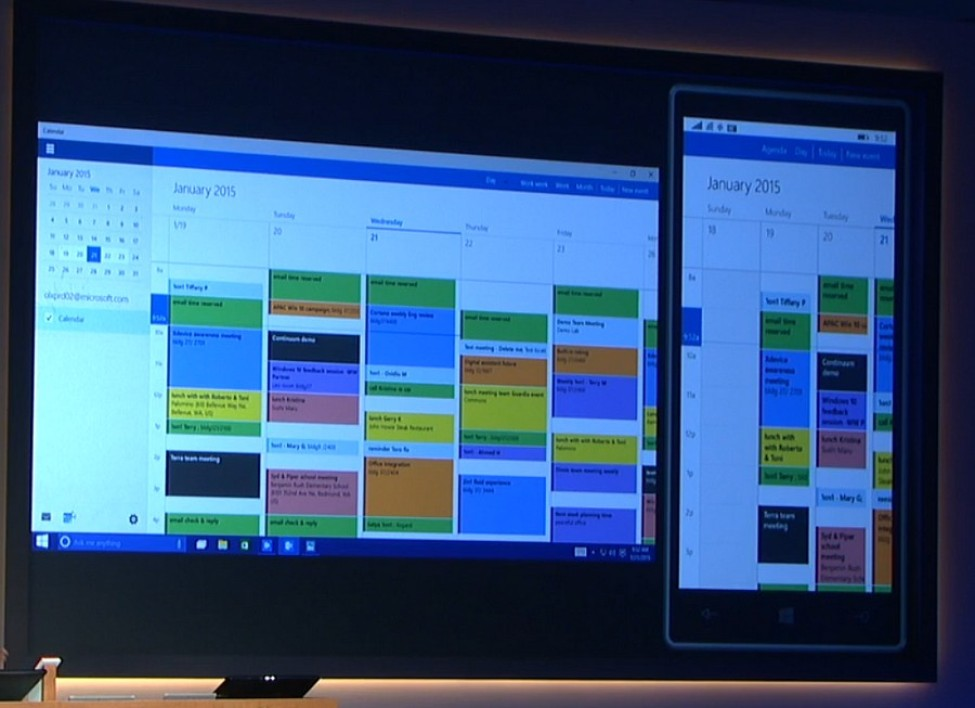 L'agenda Outlook sous Windows 10