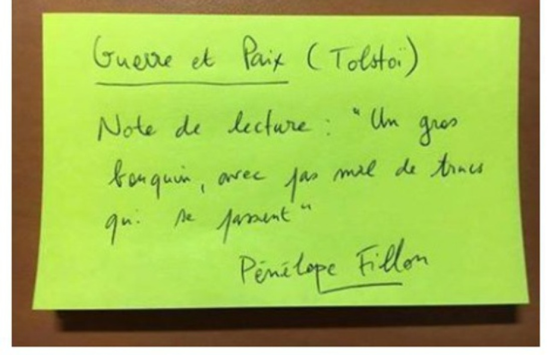 Exemple d'un post-it qu'a reçu Gérard Picot.