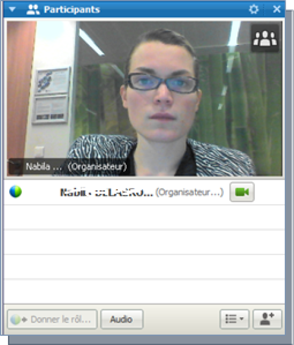 Interface de Webex