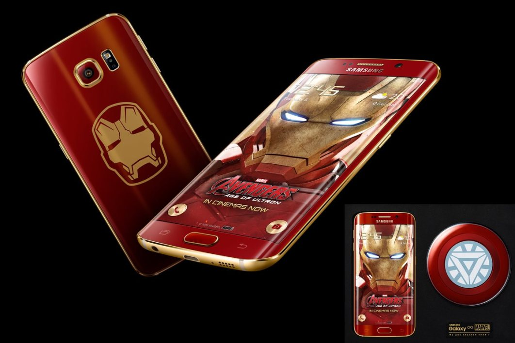 et voil le galaxy s6 edge edition iron man l 39 armure rouge et dor e. Black Bedroom Furniture Sets. Home Design Ideas