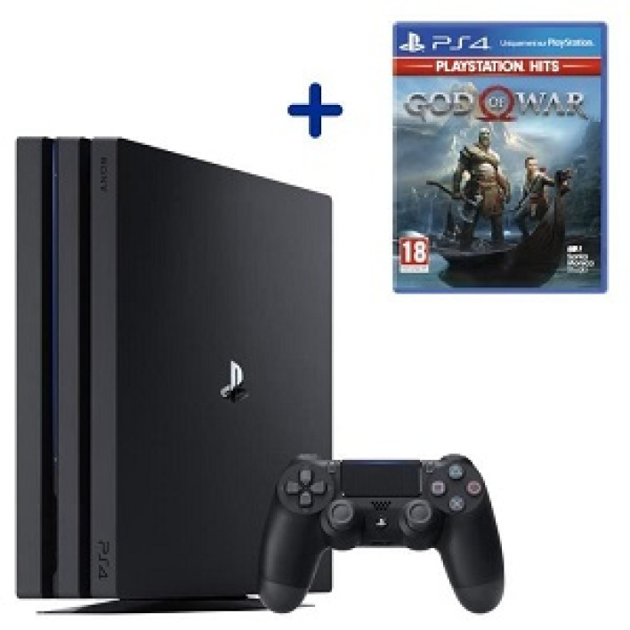 Console PS4 Pro 1To Noire/Jet Black + God Of War PlayStation Hits