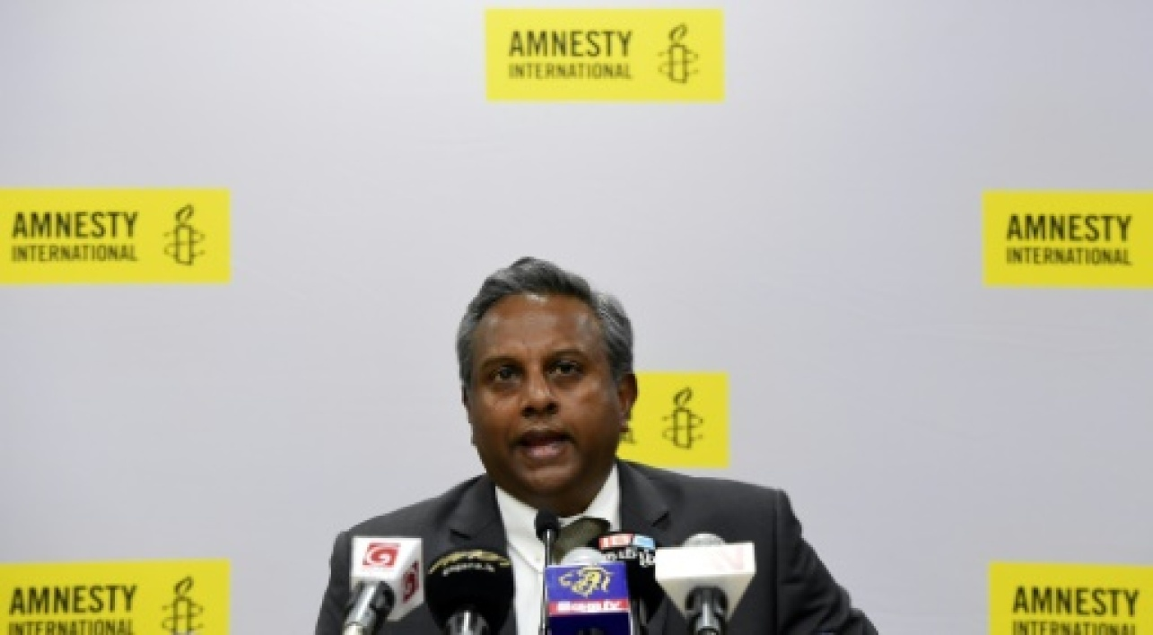 Le secrétaire général d'Amnesty international, Salil Shetty, le 5 avril 2017 à Colombo
