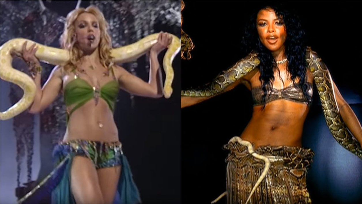 Britney Spears, septembre 2001 - Aaliyah, avril 2001