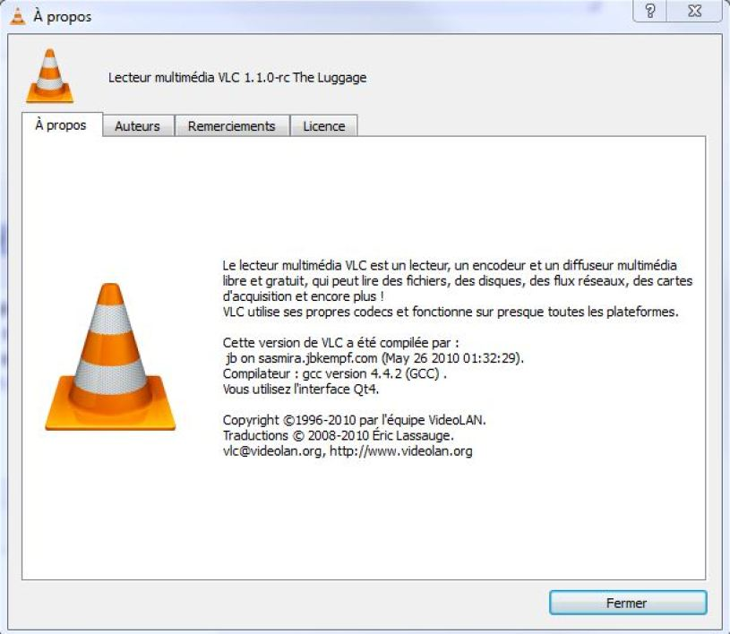 VLC 1.1.0 The Luggage disponible en RC