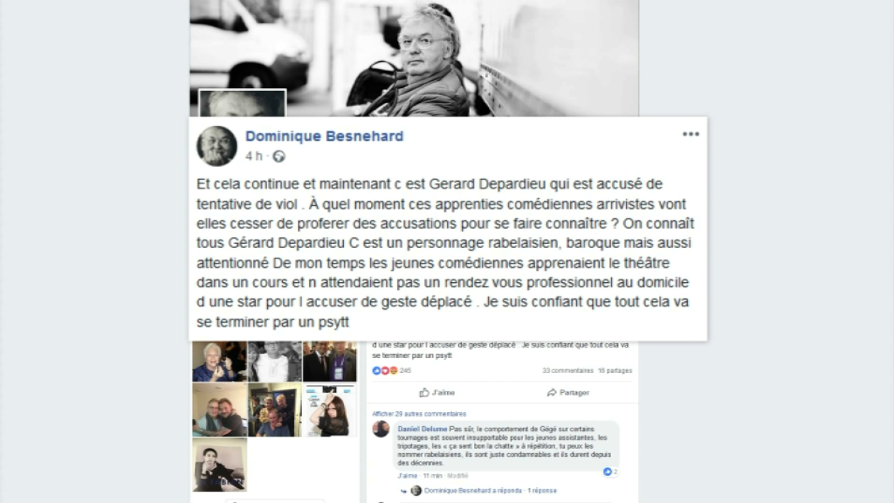 Message de Dominique Besnehard